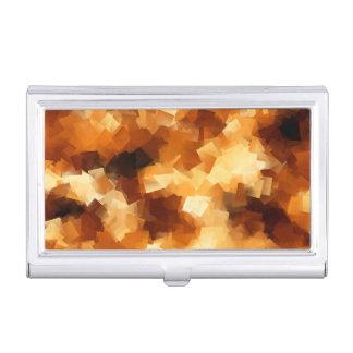 Modelo cubista del extracto del fuego caja de tarjetas de negocios