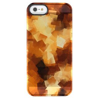 Modelo cubista del extracto del fuego funda clear para iPhone SE/5/5s