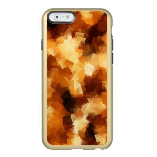 Modelo cubista del extracto del fuego funda para iPhone 6 plus incipio feather shine