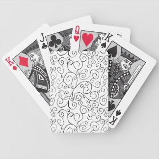 Modelo Curvy negro pintado a mano en blanco Cartas De Juego