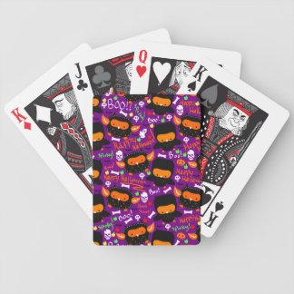 Modelo Cutesy de los búhos de Halloween Baraja Cartas De Poker