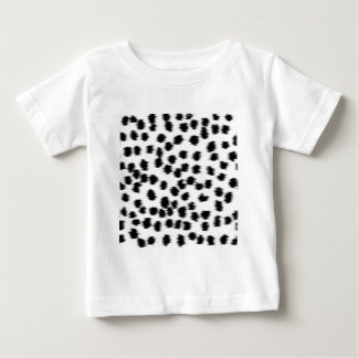 Modelo dálmata blanco y negro de la impresión playeras