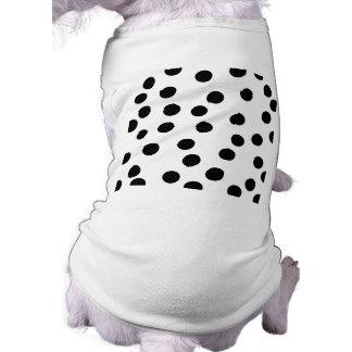 Modelo dálmata blanco y negro del punto playera sin mangas para perro