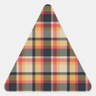 Modelo de 50 telas escocesas calcomanías trianguladas personalizadas
