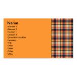 Modelo de 50 telas escocesas tarjetas de visita