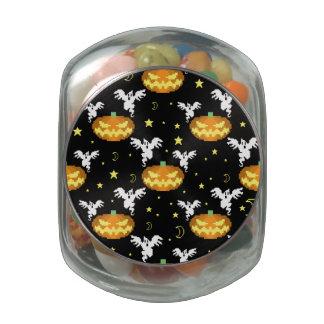 modelo de 8 bits del fantasma de la calabaza jarrones de cristal
