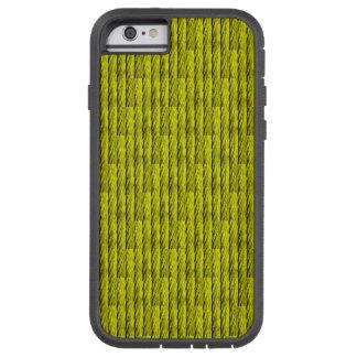 Modelo de acero amarillo del cable funda para  iPhone 6 tough xtreme