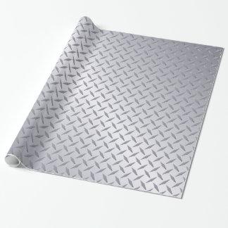 Modelo de acero brillante de la placa del diamante papel de regalo