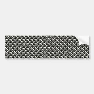 Modelo de acero de la malla metálica (falso) pegatina para auto
