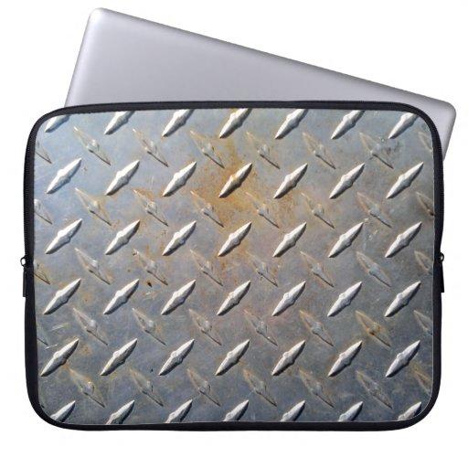 Modelo de acero del diamante del metal gris y oxid mangas portátiles
