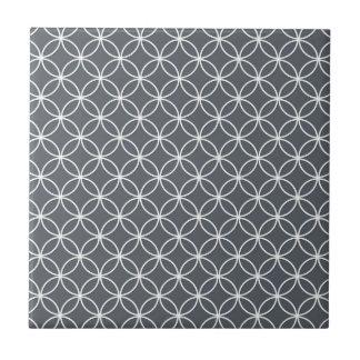 Modelo de acero del gris y blanco de los círculos azulejo cuadrado pequeño