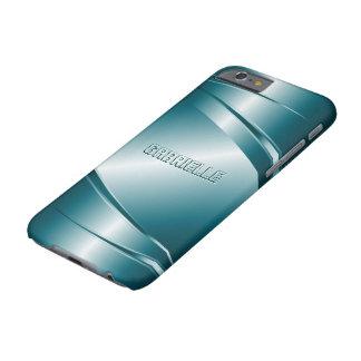 Modelo de acero Mirada-Inoxidable metálico del Funda Para iPhone 6 Barely There