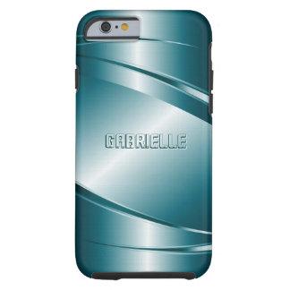 Modelo de acero Mirada-Inoxidable metálico del Funda Para iPhone 6 Tough