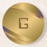 Modelo de acero Mirada-Inoxidable metálico del tin Posavasos Personalizados