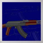 Modelo de AK47 Poster