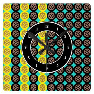 Modelo de alternancia de las ruedas dentadas reloj cuadrado