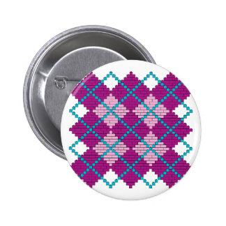 Modelo de Argyle con los ladrillos (rosa, púrpura  Pins