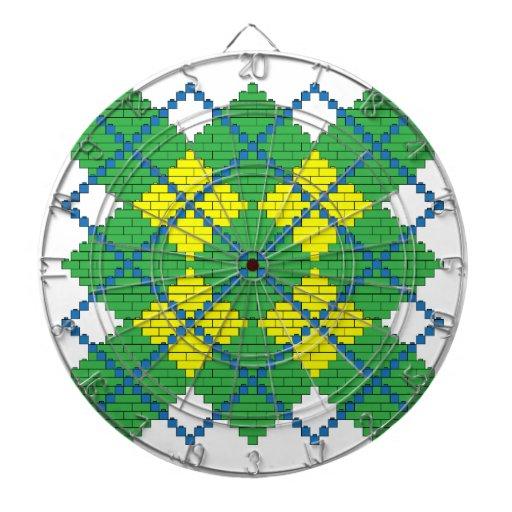 Modelo de Argyle con los ladrillos (verde, azul, a Tablero Dardos