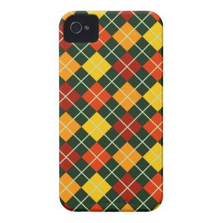 Modelo de Argyle del otoño Case-Mate iPhone 4 Cárcasas