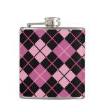 Modelo de Argyle en negro y rosa