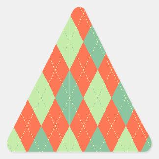 Modelo de Argyle Pegatina Triangular