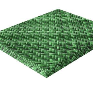 Modelo de armadura de cesta coloreado verde impresiones en lona estiradas