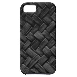 modelo de armadura de cesta negro iPhone 5 fundas