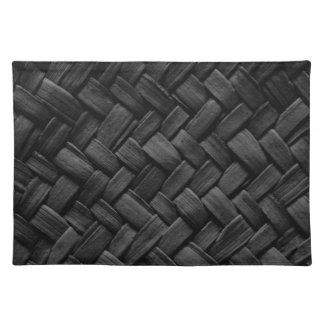 modelo de armadura de cesta negro mantel