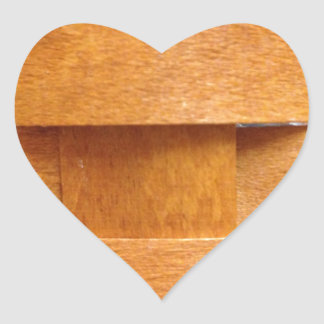 Modelo de armadura de cesta pegatina de corazón