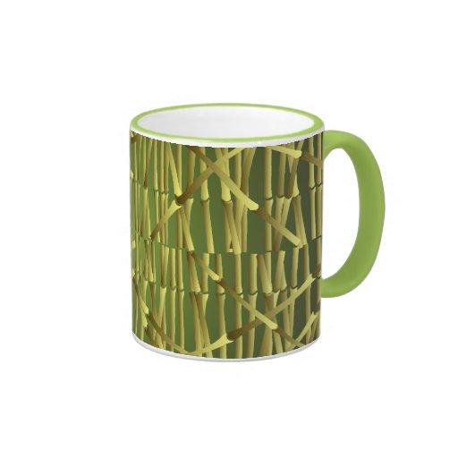 Modelo de bambú del tronco taza de dos colores