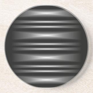 Modelo de barra blanco y negro moderno posavasos de arenisca