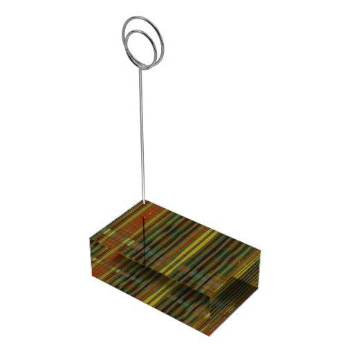 Modelo de barras soportes de tarjeta de mesa