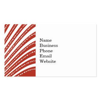 Modelo de barras y estrellas rojo y blanco tarjetas de visita