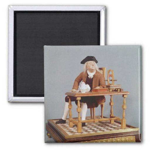 Modelo de Benjamin Franklin en su tabla Imán Cuadrado