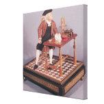 Modelo de Benjamin Franklin en su tabla Impresión En Tela