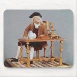 Modelo de Benjamin Franklin en su tabla Mousepads
