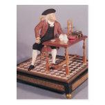 Modelo de Benjamin Franklin en su tabla Postales