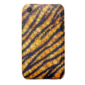 Modelo de Bling del tigre iPhone 3 Case-Mate Cárcasa