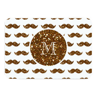 Modelo de bronce del bigote del brillo su anuncios personalizados