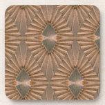 Modelo de bronce del diamante del art déco posavaso