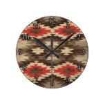 Modelo de Brown/de Navajo de la terracota Reloj De Pared