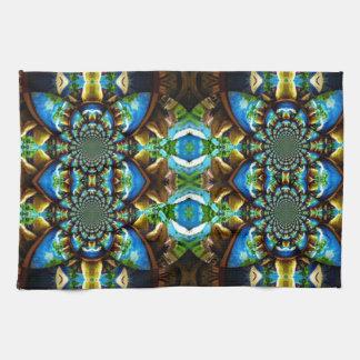 Modelo de cadena abstracto de Brown del verde azul Toalla