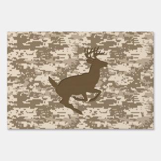 Modelo de Camo de los ciervos del camuflaje de Letrero