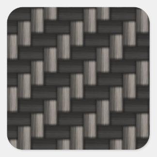 Modelo de Carbonfiber a cuadros Pegatinas Cuadradas