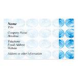 Modelo de cáscaras en azul brillante plantillas de tarjetas de visita