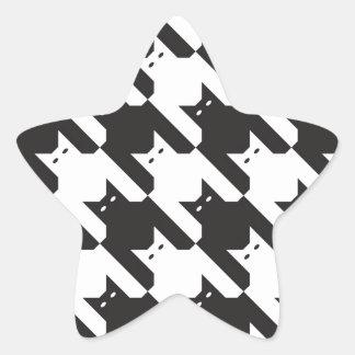 Modelo de CatsTooth Pegatina Forma De Estrella