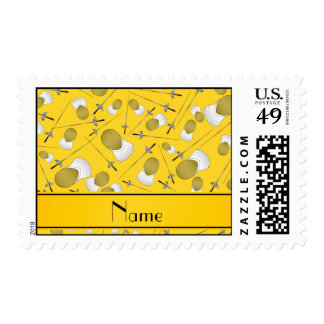 Modelo de cercado amarillo conocido personalizado sello