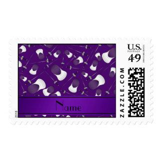Modelo de cercado púrpura conocido personalizado franqueo