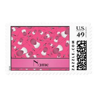 Modelo de cercado rosado conocido personalizado sellos