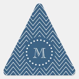 Modelo de Chevron de los azules marinos y del Calcomanía Triangulo